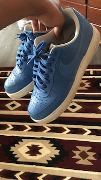 white-and-blue Nike Air Force 1 low shoes Omaha, 68104
