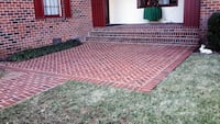 brick patios and brick or stone house entrance are made good work at a good price if you want more information Send me a text Manassas, 20111