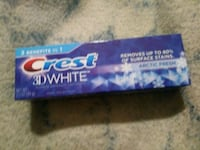 blue and white labeled pack Bay City, 48706