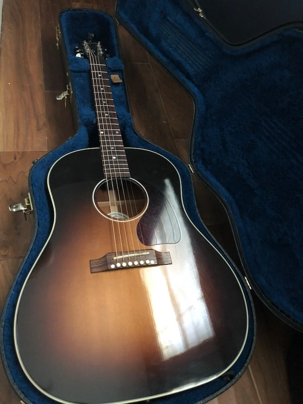 Used Gibson J45 Dreadnought Acoustic Guitar With Pickup For Sale In