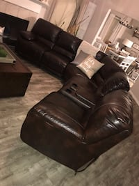 New Ashley Furniture leather brown sectional Katy, 77449
