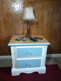 Side table w/drawers