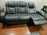 5pc(3pc+2Pc) Leather Recliner Power Sectional Couch + Leather Console  Prospect Heights, 60070