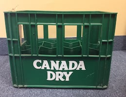 Collectible Plastic Canada Dry POP Bottle Crate Storage Display