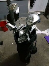 16 golf clubs plus bag for sale