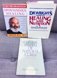 3 Natural Health books $12 all or $5 each