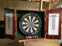 Solid oak cabinet, tournament dartboard Vancouver, V6P 4A7