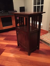 """Mission style end table side table dark wood 32"""" high 21.5"""" wide 14"""" deep Mount Laurel, 08054"""