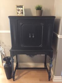 Refinished genuine antique 1930's cabinet in dark grey- delivery available Milton, L9T 4J6