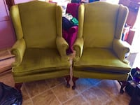 Two sturdy green chairs in good condition Odenville, 35120