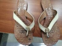pair of brown leather sandals Newport Beach