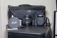 Canon EOS 500D (Rebel T1i) with accessories and lens