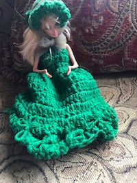 green and white dressed female doll Hagerstown, 21740