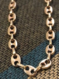 14k solid gold gucci link necklace