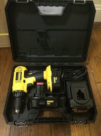 Yellow dewalt cordless drill with adapter and box Arlington, 22204