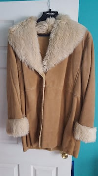 Womens  suede and fur coat