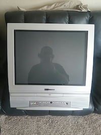 gray Emerson CRT TV with dvd player. Topeka, 66604