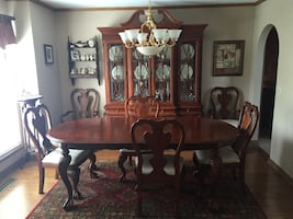 Formal Dining Room; Hutch, Table (2-leafs) and 6 chairs