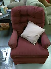 red tufted armchair 421 mi