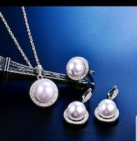 silver and white pearl pendant necklace Surrey, V3X 1P3
