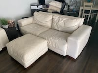 4 pieces All Leather Couch, love seat , ottoman, and chair