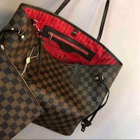 Damier Ebene Louis Vuitton leather tote bag Laval, H7W