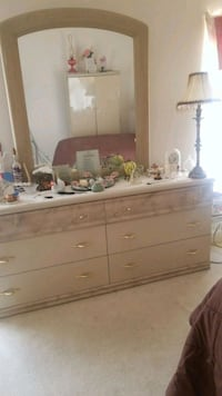 Dresser, end table, head board and full size mattr Reisterstown, 21136