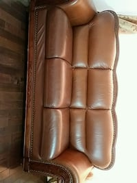 brown leather 3-seat sofa Calgary, T2A 1A5