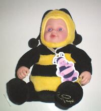 Anne Geddes Bumble Bee 8.5 Inch Doll NWT London