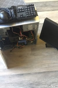 Dell Computer, mouse, flat screen monitor
