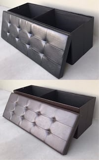 New in box 43x15x15 inches foldable storage ottoman toys clothes storage seating black brown or grey Los Angeles, 90032