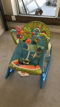 Baby's green and blue fisher-price rocker Surrey