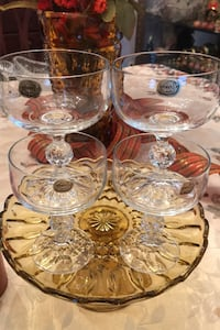Bohemian crystal  Vintage Set of 4