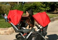 baby's red and black twin stroller London, N6P 1P2