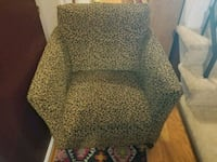 brown and black leopard print sofa chair District Heights, 20747