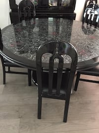 China cabinet plus table with 6 chairs
