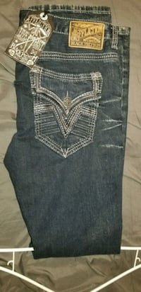 New straight fit denim affliction pants 34×32 Edinburg, 78542