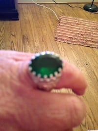 Size 8 Quartz Emerald Ring Silvertone Arlington, 22203