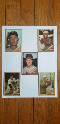 ☆ 5 1962 TOPPS CARD BASEBALL CARDS ☆ Numbers: 21,  New Albany, 47150