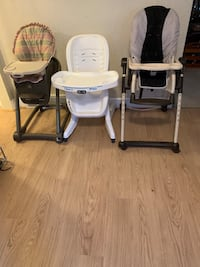Collapsible high chairs
