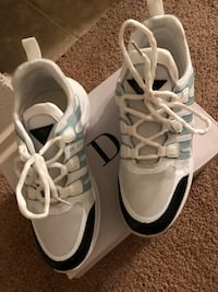 pair of white-and-black Adidas sneakers Oxon Hill, 20745