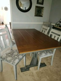 rectangular brown wooden table with four chairs dining set Aldie, 20105