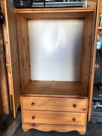 brown wooden cabinet with shelf 3157 km