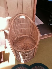 brown wicker basket with brown wooden frame Portsmouth, 23702