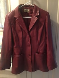 Woman's Red Leather Jacket size 10 Ventura, 93001