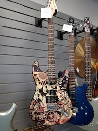 brown and black electric guitar Saskatoon