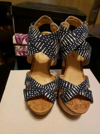 Navy blue & white wedges Mission, 78572