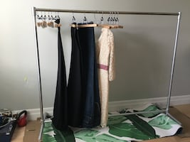 Strong clothing rack on wheels 5ft long for wardrobe