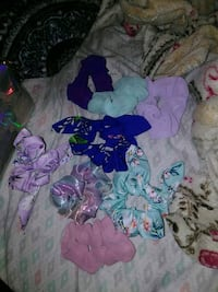 Assorted scrunchies and holographic bag Glen Burnie, 21060