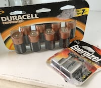 Lot of Batteries- 8 x C and 2 9v Toronto, M5R 1J8